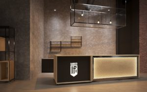 Furniture for HARDER fitness club